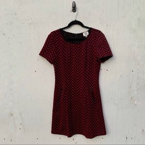 ECI Chevron Striped Skater Dress